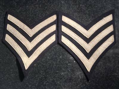 M1902 - WW1 US Infantry Sergeant Chevron Sleeve Patch Insignia MATCHING PAIR