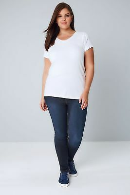 Ladies Ex Evans Plus Size Ultra-Stretch Womens Jeggings Skinny Denim