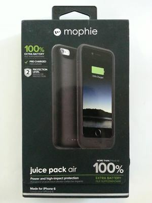 New mophie Juice Pack Air 2750mAh Battery Charging Case for iPhone 6S / 6 Black