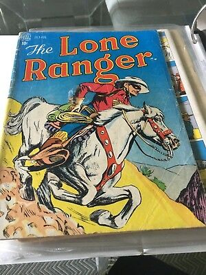 Dell LONE RANGER COMIC  Issue #4 -- JULY - AUG.-- 1948 -- GOOD + Condition