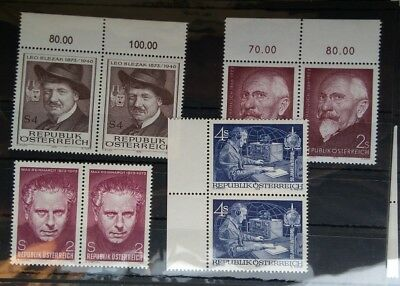 Österreich Lot Paare ** fast alle mit Rand / OR pairs MNH