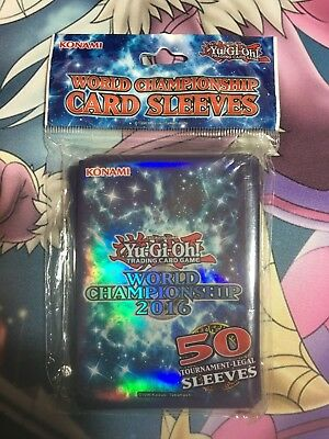 Official Konami Yugioh World Championship 2016 Sleeves 50 Pack Sealed New
