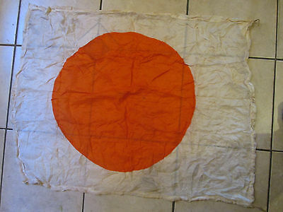 Vintage WWII Japanese Rising Run Silk Flag 30x37