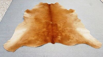 "New Calfhide Rugs Area Cow Skin Leather 7.33 sq.feet (32""x33"") Calf hide A-1940"