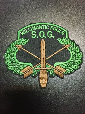 Willimantic Police S. O. G. Patch