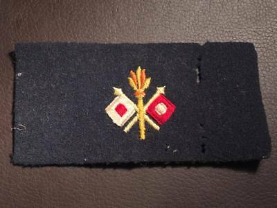 M1902 - WW1 US Signals Trade Patch / Sleeve Insignia (Black Backing)