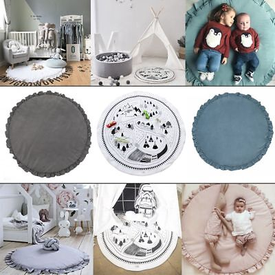 100cm Round Crawling Carpet Soft Cotton Round Lace Blanket Baby Play Mats