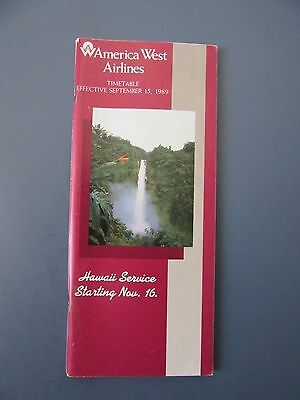 America West airlines - September 15, 1989 timetable