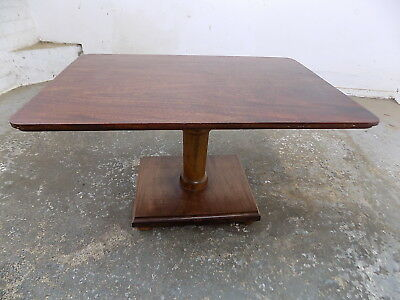 small,vintage,small,mahogany,pedestal,coffee table,side table,end table,bun feet