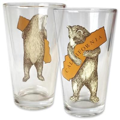 SF Mercantile California Bear Hug Pint Glass