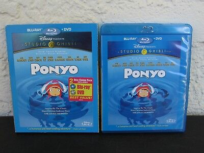 Disney Ponyo ~ (2 disc blu-ray / dvd) Studio Ghibli Inspired by Little Mermaid