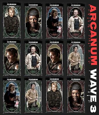 Arcanum Wave 3-Willow+Rose-6 Card Set-Topps Walking Dead Card Trader