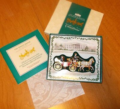 Christmas 2001 The White House Historical Association Ornament w/ Box & Booklet