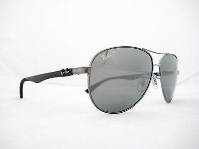 18eddcd3ee4 new RAY BAN CARBON FIBER Sunglasses Gunmetal Silver Polarized 61mm RB8313  004 K6