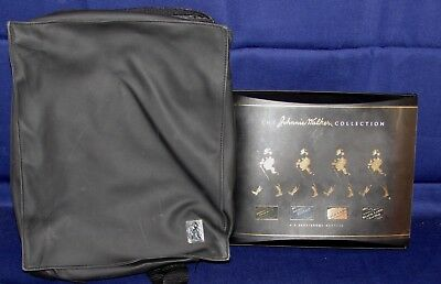 Rare Johnny Walker Leather Travel Backpack with Empty 200ml Collection Box Nice!