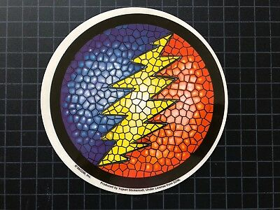 GDM GDP Grateful Dead Jerry Garcia STAINED GLASS BOLT window sticker HQ 1998