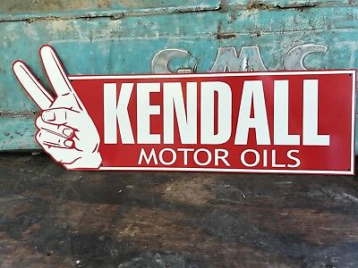 Antique Vintage Old Style Kendall Motor Oil Sign