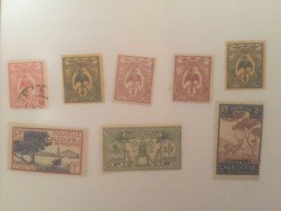 New Caledonia -  France colonial mint+used stamps auglot3