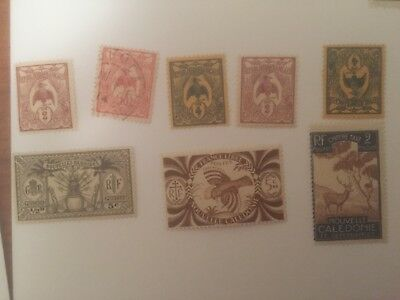 New Caledonia -  France colonial mint+used stamps auglot4