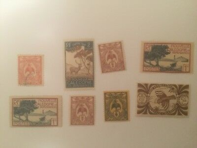 New Caledonia -  France colonial mint+used stamps auglot5