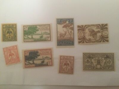 New Caledonia -  France colonial mint+used stamps auglot7
