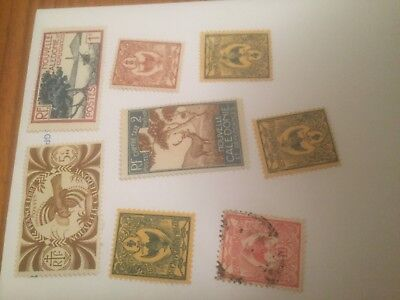 New Caledonia -  France colonial mint+used stamps auglot11