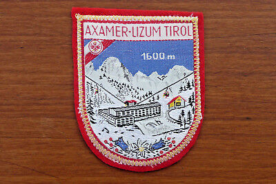 Axamer - Lizum Tirol ~ Austria Alpine Ski Resort Vintage Souvenir Sew-On Patch