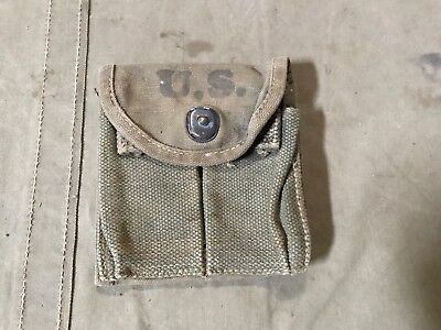 60Q Original Wwii Us M1 Carbine Rifle Butt Stock Ammo Pouch