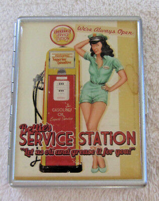 Bettie Page Card and Cigarette Case. New.