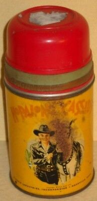 Vintage 1950s Hopalong Cassidy Aladdin Thermos Bottle William Boyd Topper
