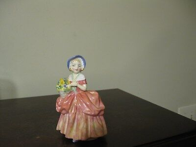 Vintage Royal Doulton Bone China Figurine CISSIE HN1809 Artist Initialed