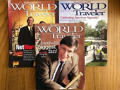 Lot of 3 Northwest Airlines inflight magazines, 1999