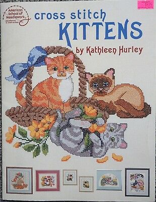 Cross Stitch Pattern Books Country Kittens By Kathleen Hurley