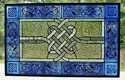 "Celtic Animals Original Design Stained Glass 12 7.8"" x 20.5"""""