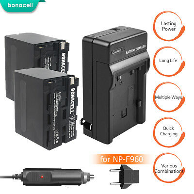 NP F970 NP F960 Battery and charger for Sony NP-F550 NP-F570 NP-F750 Camera MP