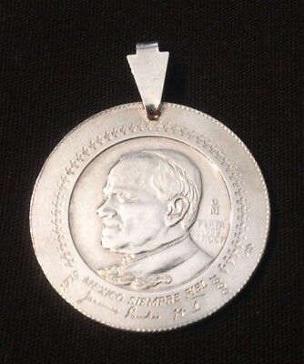 1979-1990 Pope John Paul ll Mexico Siempre Fiel .999 Silver Coin Medallion