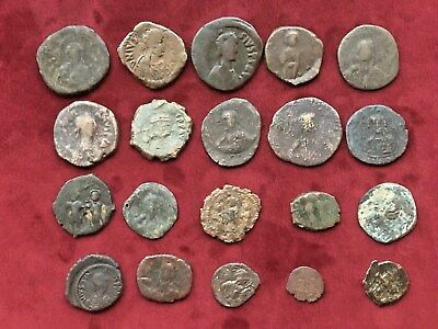 Lot Of 20 Ancient Byzantine Bronze  Coins.