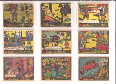 G-Men & Heroes Of The Law  -  1936.....22 Cards.....very Good