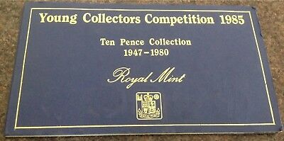 1947 - 1980 Great Britain / United Kingdom - Complete Florin / 10 Pence Set (31)