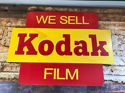 Antique Vintage Old Style We Sell Kodak  Flim Sign.