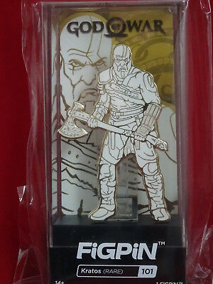 Rare Kratos God Of War Gold And White Figpin # 101 And Regular Version #99