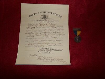 Very Rare Philippine-American War / WW1  1908 Medal & Discharge Papers, Named