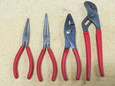 Snap-on 4 pc Plier Set: 96ACP, 97ACP, 91CP and 47CP