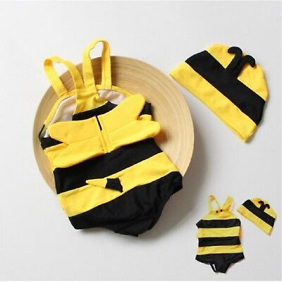 Baby Swimwear Cute Bees Spa Siamese Vacation Girls Boys Swimsuits For Children