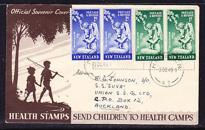 New Zealand 1949 Health  (Pairs) First Day Cover  - Auckland