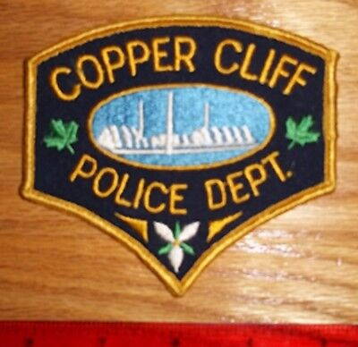 VINTAGE COPPER CLIFF POLICE DEPT. PATCH  Ontario,obsolete,enforcement,security