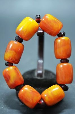 Beautiful China Beeswax Barrel bead elastic Bracelet