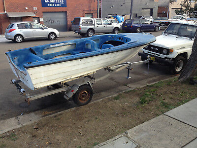 16' Fibreglass Runabout Rough Project Stebercraft Hull Only, NO TRAILER