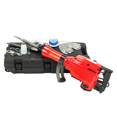 "2200W 1-1/8"" Electric Demolition Jack Hammer 1500W Concrete Breaker Chisels"