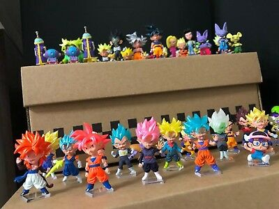 Dragon Ball Z Figure DBZ UDM Set of 46 with Acrylic Table Lot Used